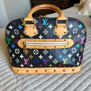 Louis Vuitton Black Multicolor Monogram Handbag
